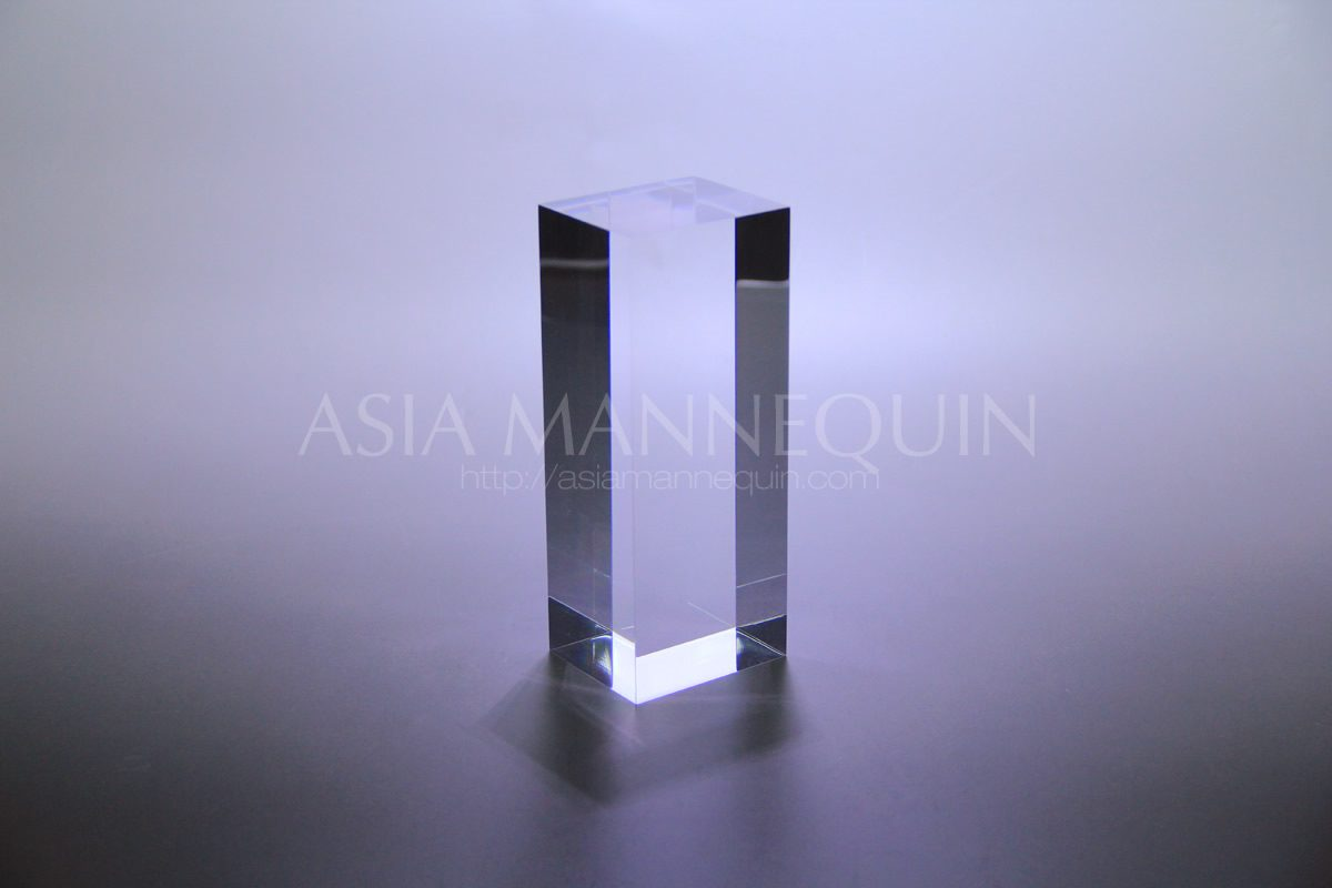Acb001 Acrylic Block Rectangle Clear Asia Mannequin