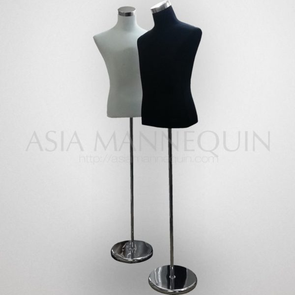 TM 12 Fabric Torso Male White / Black Color Steel Base With Layer Sponge  And Fabric